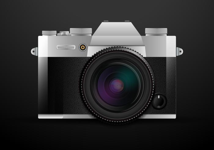 Appareil photo reflex numérique réaliste vecteur