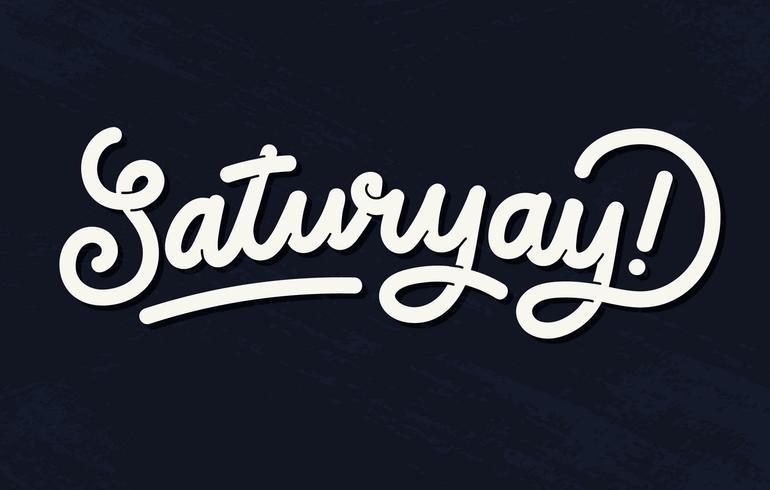saturyay lettrage vecteur