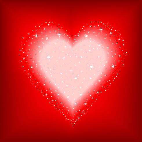 coeur étoilé vecteur