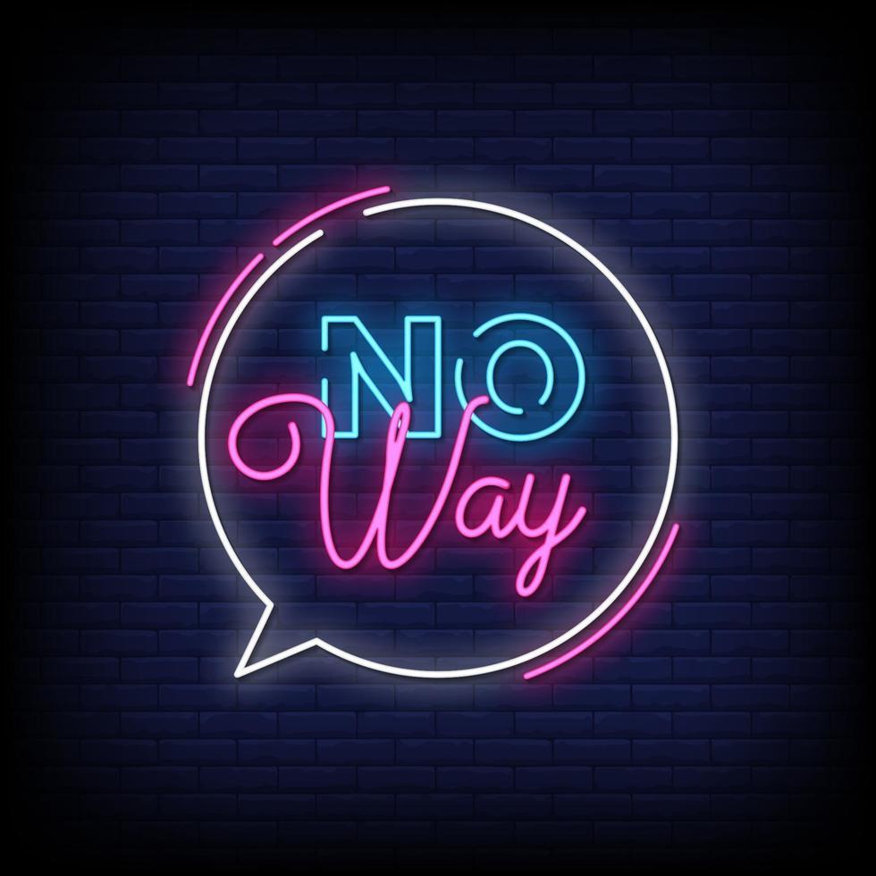 aucun moyen de texte de style enseignes au néon vecteur