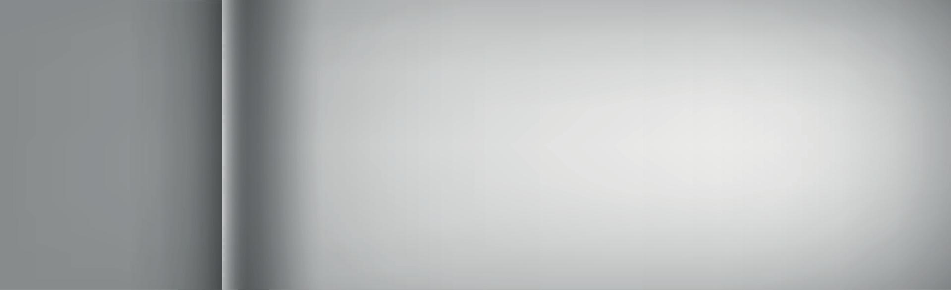 fond blanc et gris avec bord recourbé - vecteur