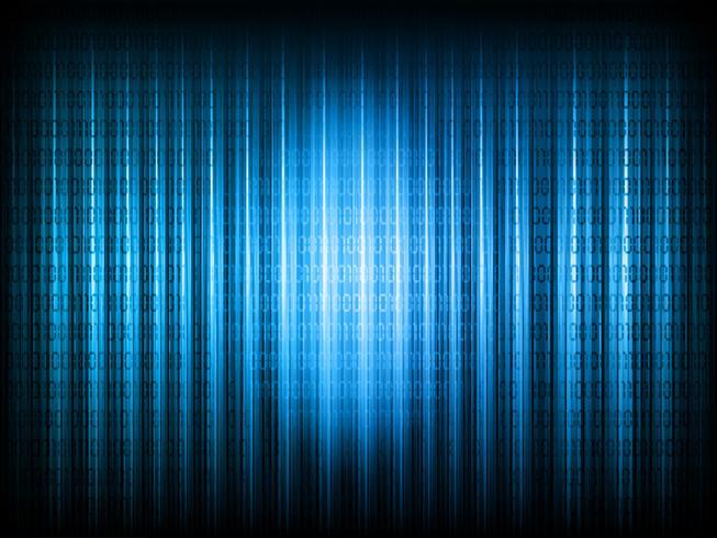 Fond de code binaire vecteur