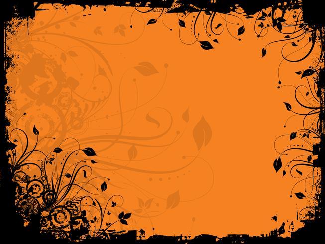 Grunge floral vecteur