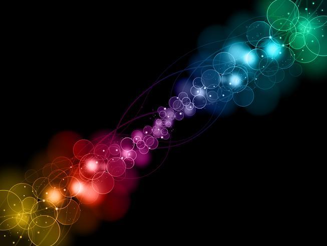 fond de lumières abstraites bokeh vecteur