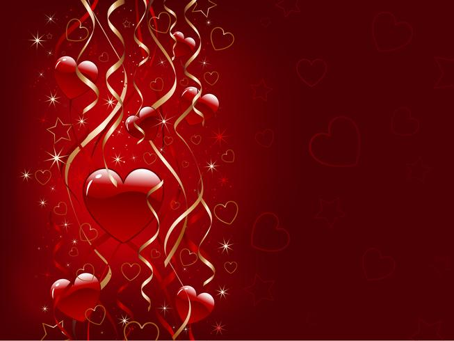 Fond de Saint Valentin vecteur