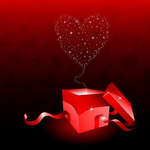 Coffret Saint Valentin vecteur