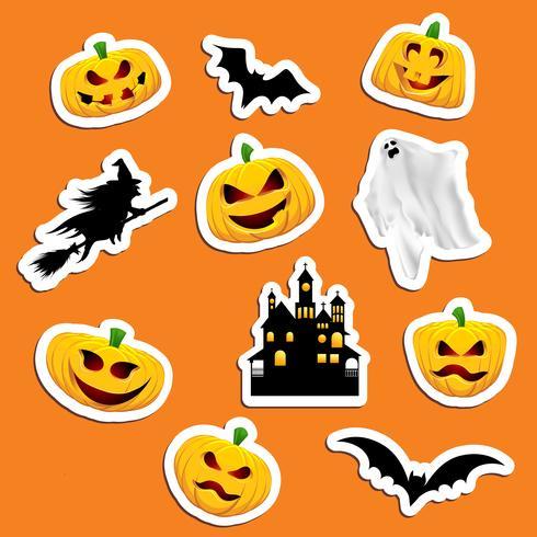 Stickers d'Halloween vecteur