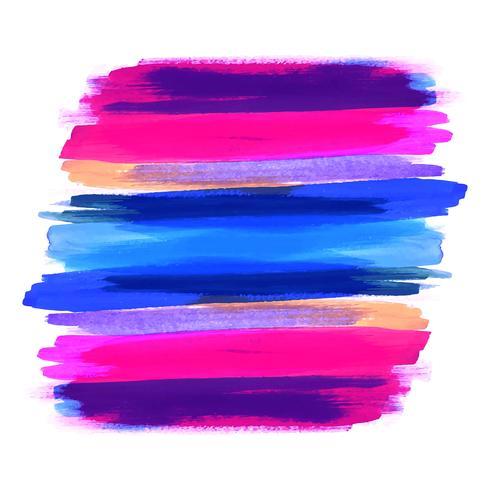 Main dessiner fond de conception colorée accident vasculaire cérébral aquarelle vecteur