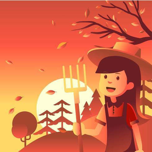 Illustration du festival d'automne vecteur