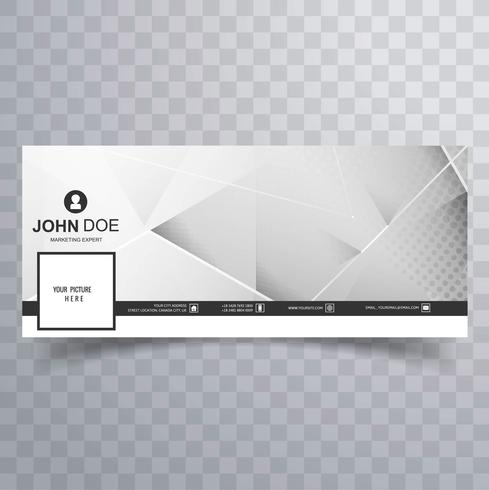 Bannière de polygone de modèle facebook moderne vecteur