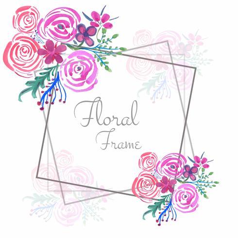 Fond de cadre floral mariage aquarelle abstraite vecteur