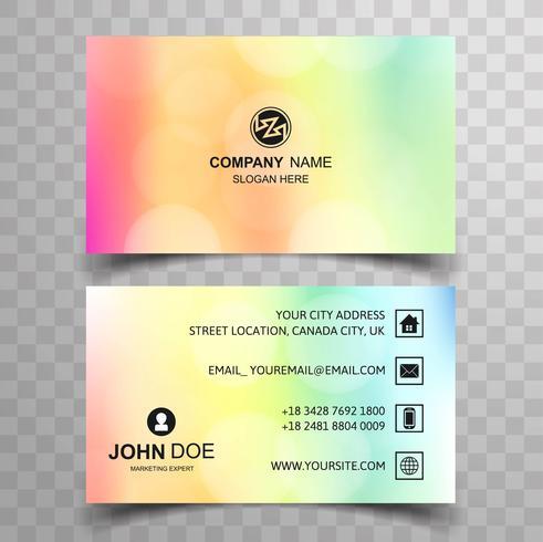 Design de modèle de carte de visite coloré vecteur