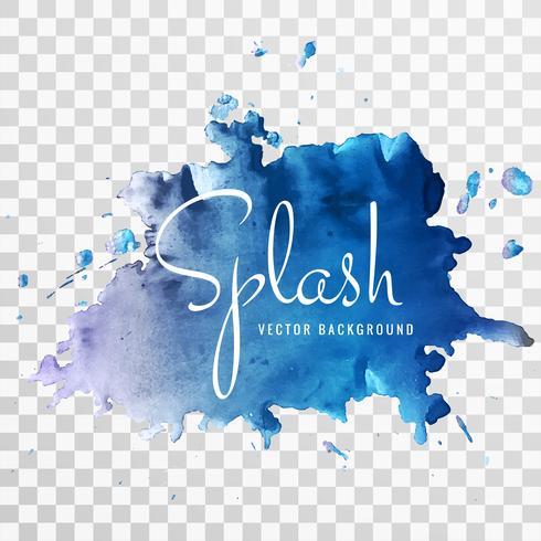 Fond bleu magnifique splash aquarelle vecteur