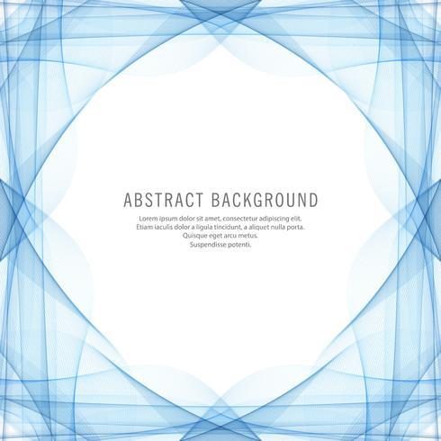 Fond abstrait vague bleue créative vecteur