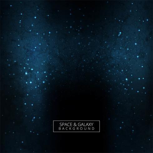 Beau fond de galaxie bleue de l'univers vecteur