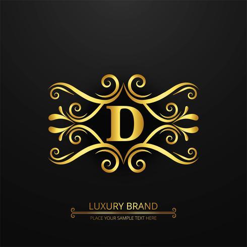 Fond de logo de marque de luxe abstraite vecteur