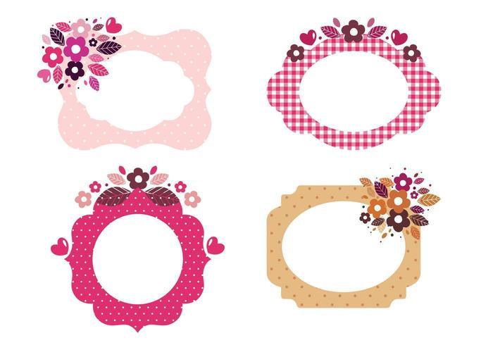 Vecteurs de cadre à motifs floraux vecteur