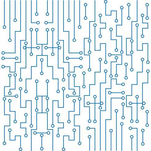 Fond de technologie de circuit imprimé moderne vecteur