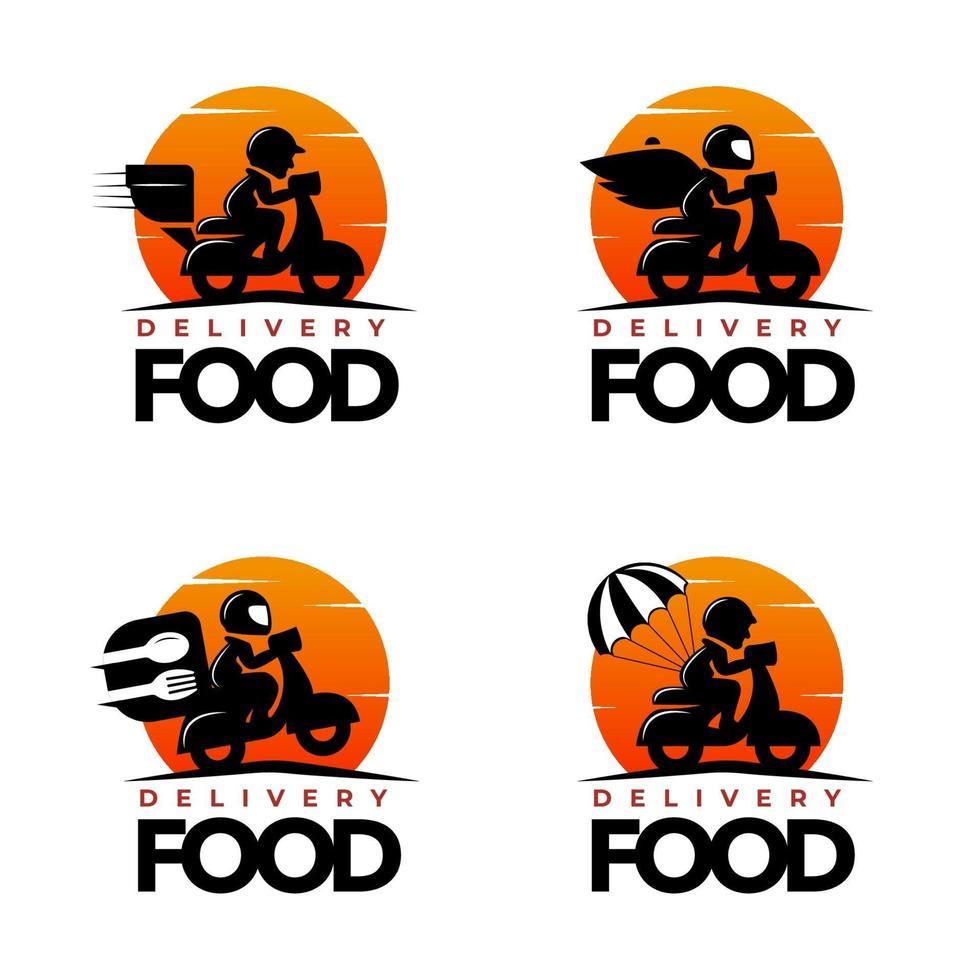 ensemble de logo de service de livraison rapide vecteur