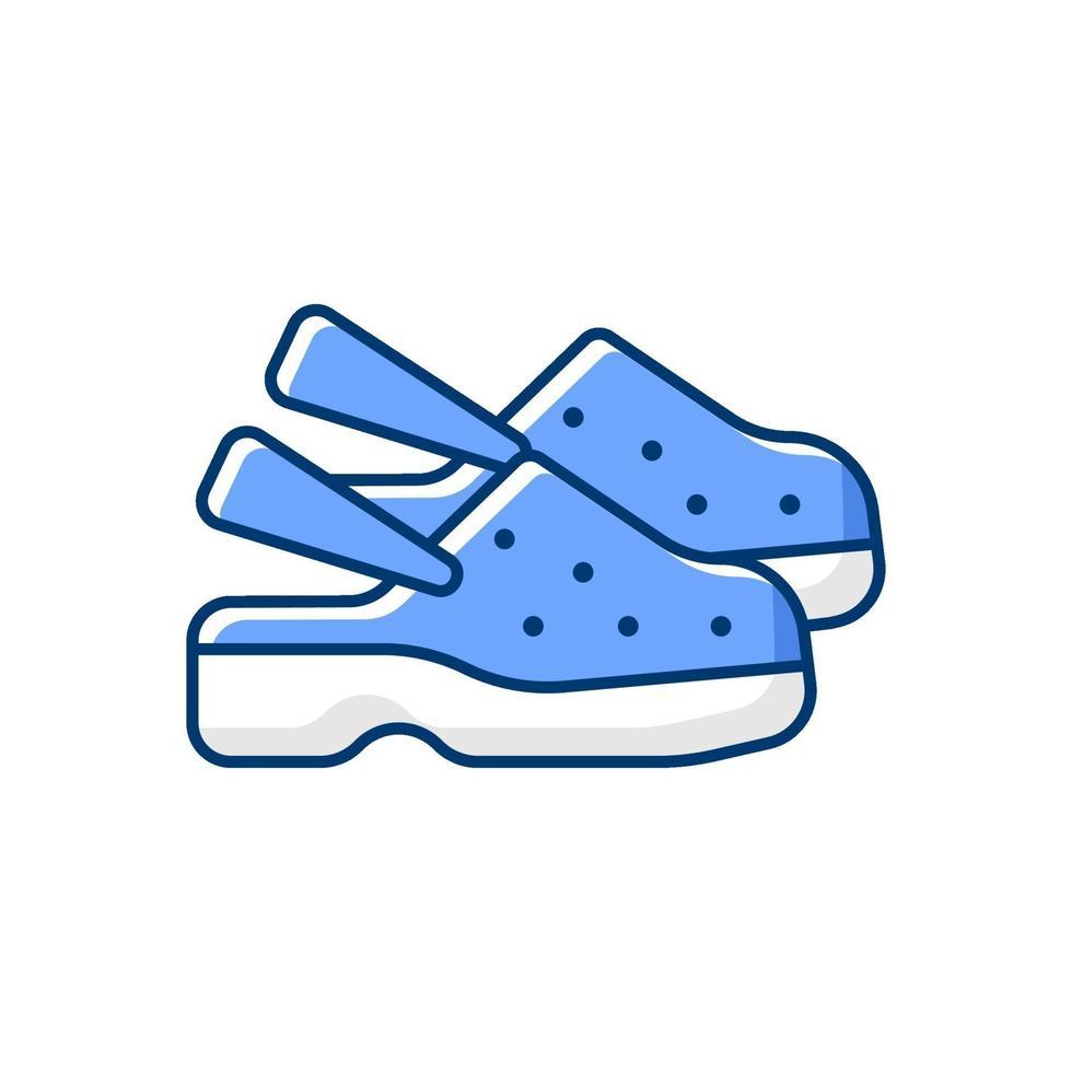 icône de couleur rgb chaussures médicales vecteur