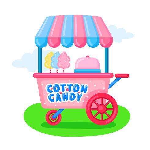 Panier de bonbons en coton vecteur