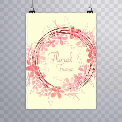 Modèle de brochure floral aquarelle abstraite vecteur