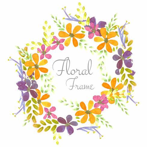 Fond de fleurs aquarelle colroful mariage vecteur