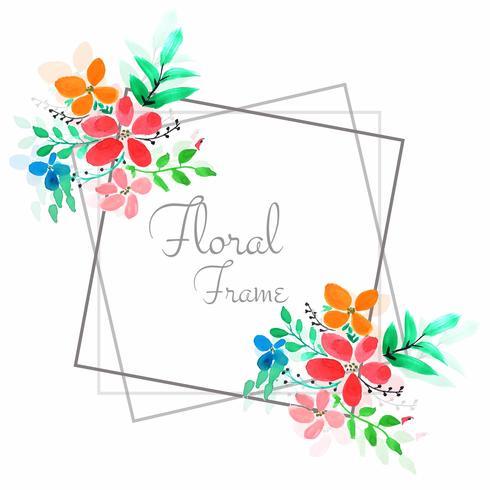Fond de cadre floral coloré moderne vecteur