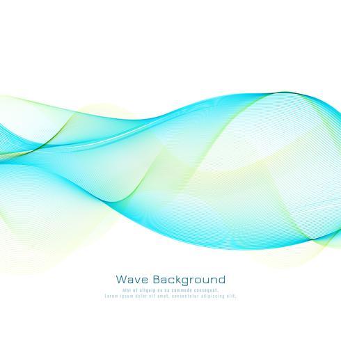 Fond abstrait vague bleue vecteur