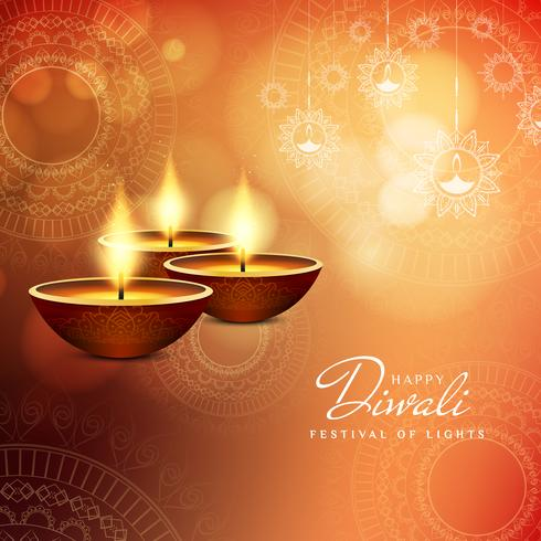 Design de fond Abstrait Happy Diwali vecteur
