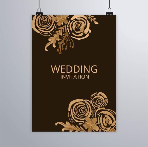 Conception de brochure élégante mariage abstrait vecteur