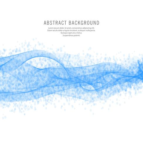 Arrière-plan de conception vague bleue abstraite vecteur