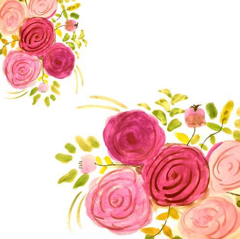 Fond de carte floral aquarelle coloré créatif moderne vecteur