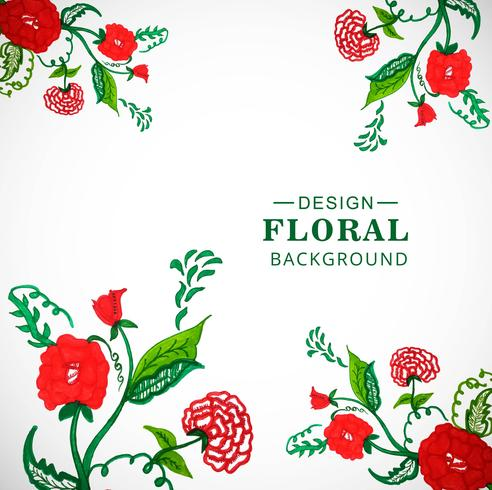 Modèle aquarelle de carte floral pour la conception des invitations de mariage vecteur