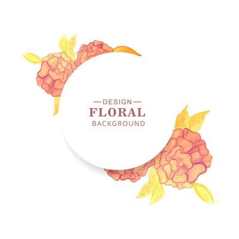 Vecteur de conception de mariage Couronne florale