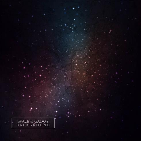 Abstrait cosmique de galaxie colorée avec des étoiles vecteur
