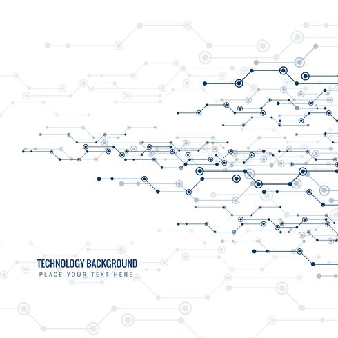 Carte de circuit abstraite pour fond de technologie vecteur