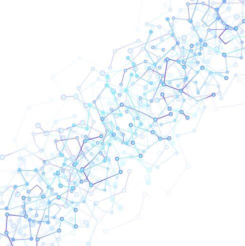 Structure de molécule et vecteur de technologie de communication backgroun