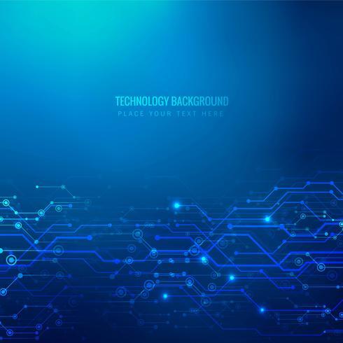 Abstrait technologie bleu vecteur