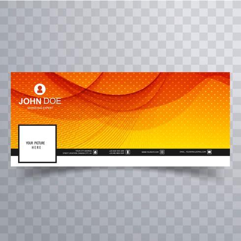 Modèle de bannière abstraite de calendrier facebook ondulé vecteur