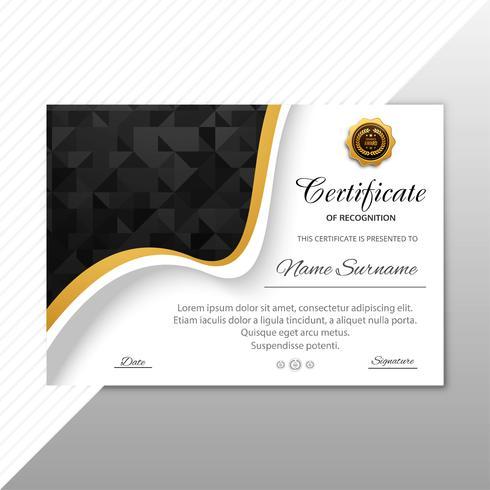 Arrière-plan du modèle de certificat de beau diplôme vecteur