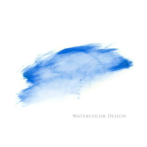 Abstrait bleu design aquarelle vecteur