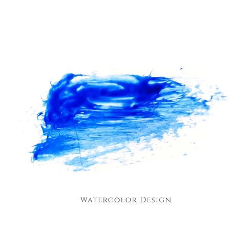 Dessin abstrait bleu aquarelle vecteur