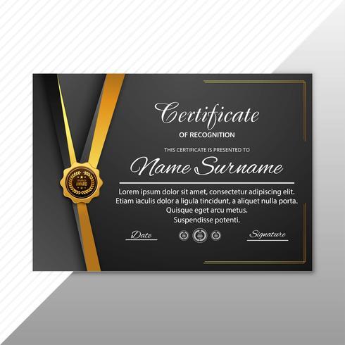 Beau modèle de certificat de reconnaissance de la création créative de vecteur