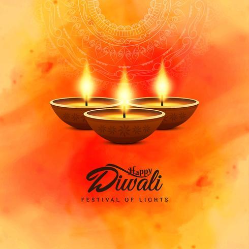 Abstrait joyeux Diwali beau fond religieux vecteur