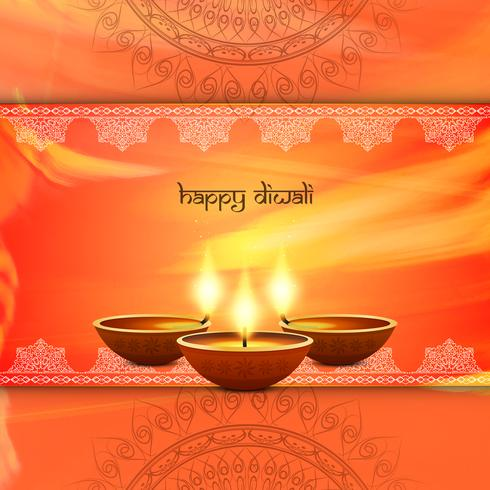 Abstrait décoratif joyeux Diwali vecteur