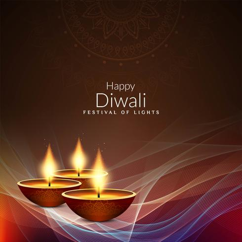 Fond décoratif abstrait joyeux Diwali vecteur