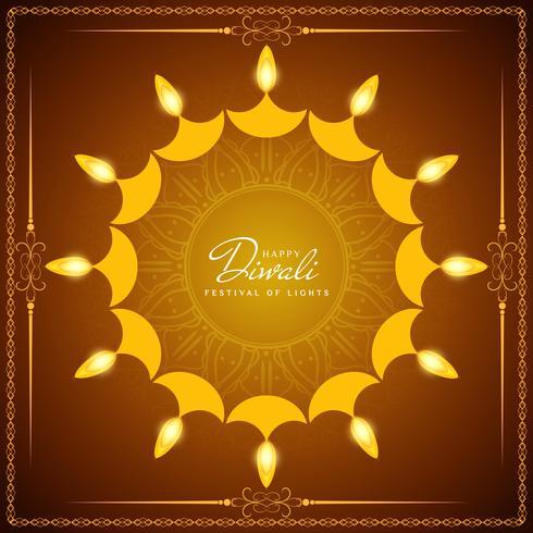 Abstrait beau joyeux festival de Diwali salutation vecteur