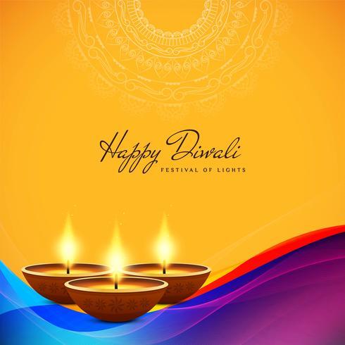 Abstrait décoratif Happy Diwali élégant vecteur