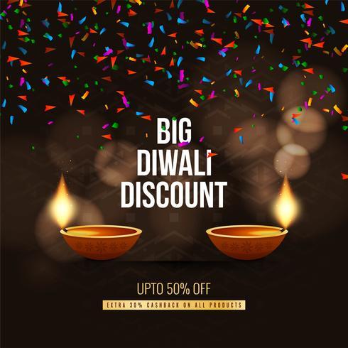 Résumé fond de l'offre du festival Happy Diwali vecteur